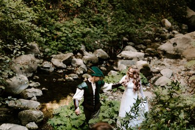 Mawwiage in tights: a Princess Bride meets Robin Hood: Men in Tights wedding