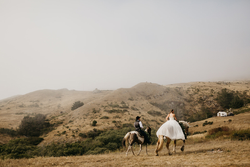 A horse ranch wedding with a horseback ceremony and DIY for days