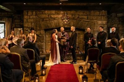 A majestic Irish castle wedding with death metal & sword-bearing protectors