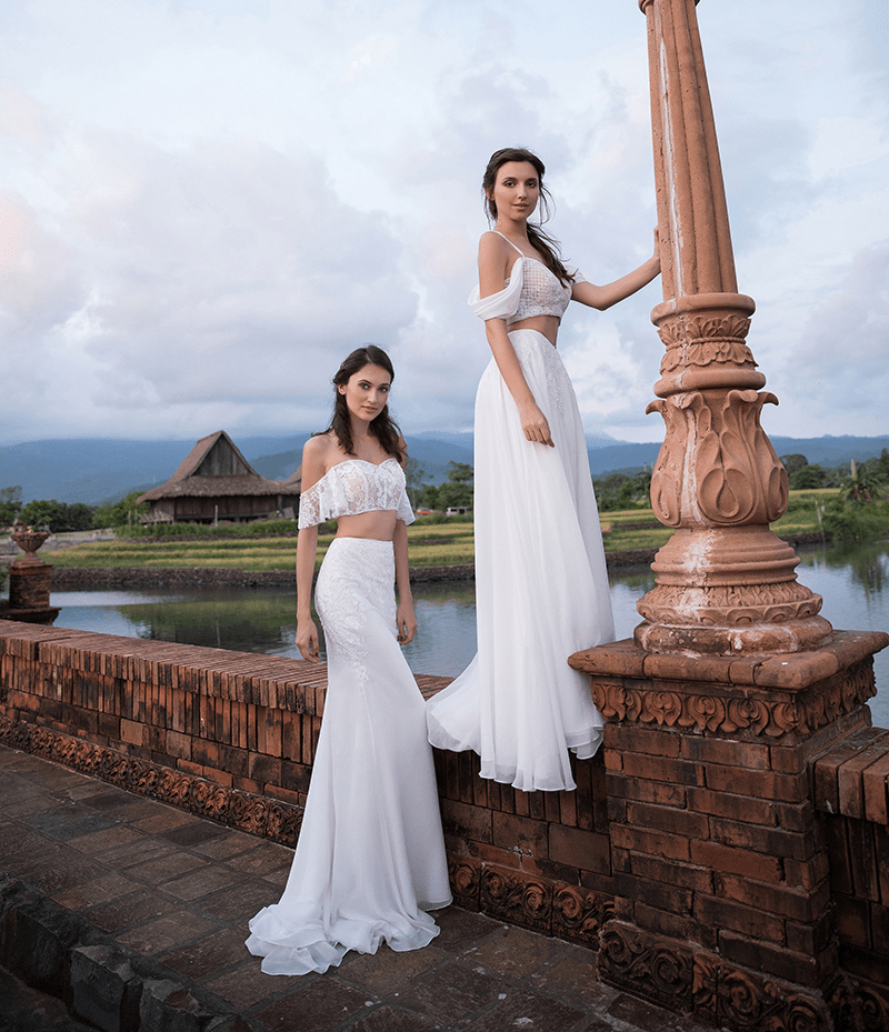 Heart eyes for the lace, tulle, and fringe of this bohemian dress collection