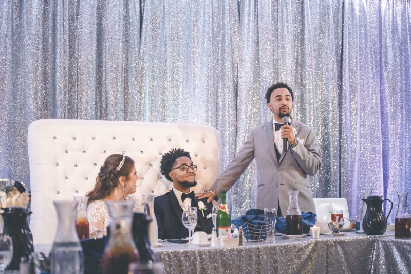 Don't miss the ultra speedy groom's cake at this glitzy Ohio wedding