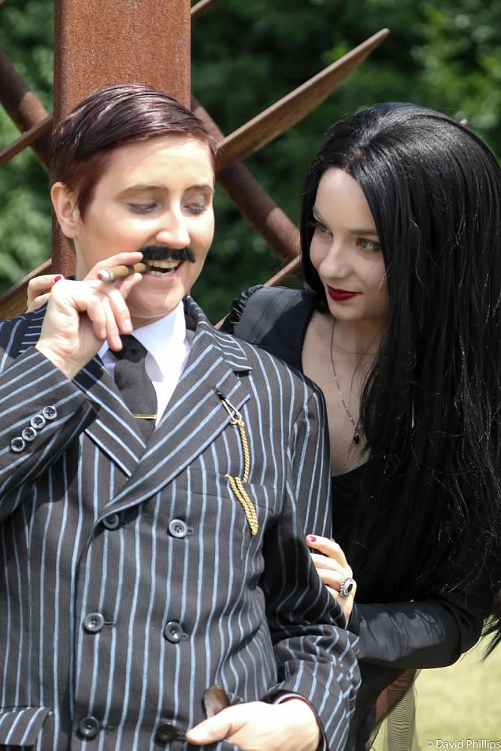 Like Morticia & Gomez themselves, this Addams Family engagement shoot is #couplesgoals