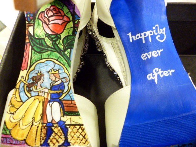 Have you seen these hand-painted heels yet?!