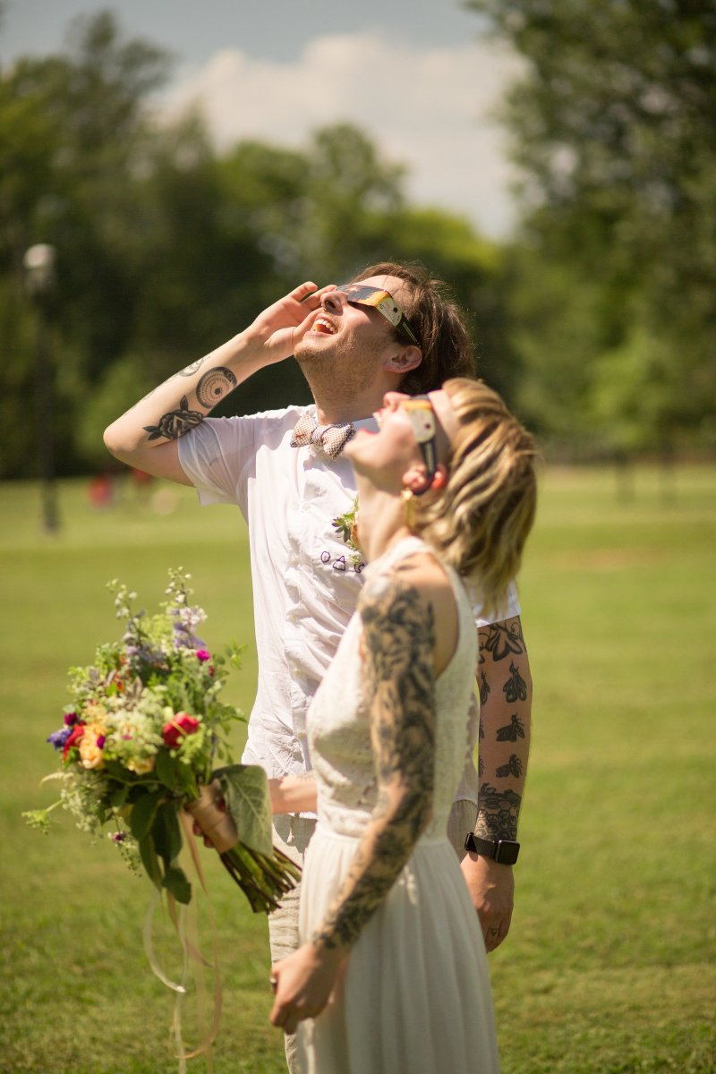 This couple traveled to Nashville to elope at the totality of the solar eclipse