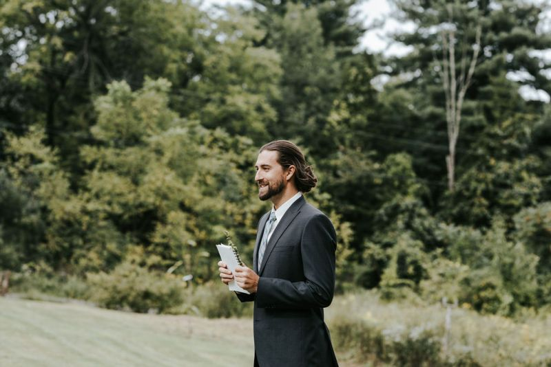 This tiny upstate New York wedding had private vows, prayer flags, & so many sentimental moments