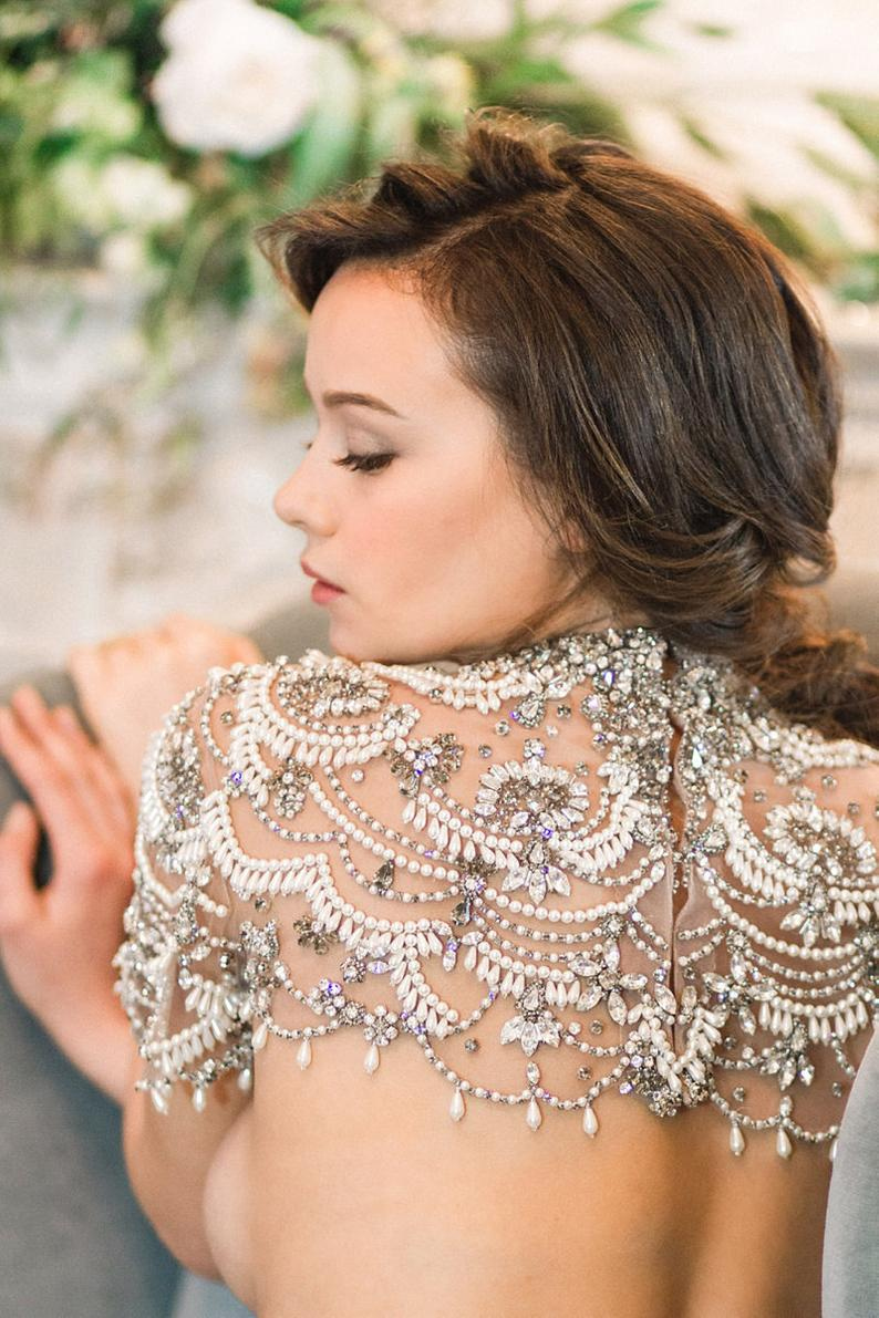 Glitz, ombre, & DETAILS: wedding capelets have gotten a serious upgrade