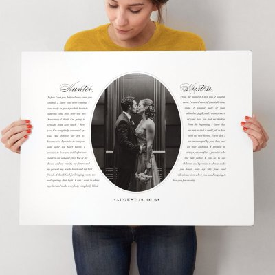 Did you know you can make your wedding vows into artwork?