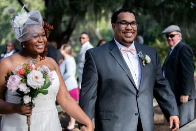 Nerdy vows & stunning views at this intimate Savannah nature preserve wedding