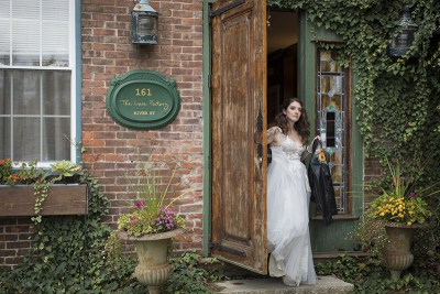Wild beauty and rock star babes at this greenery wedding in Connecticut