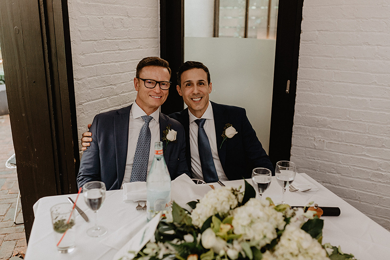 A chic Manhattan brunch wedding with two grooms & lots of greenery