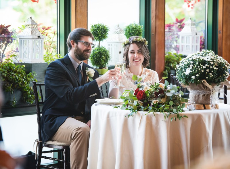 Flora & DIY magic at this garden brunch wedding at the Pond House Cafe in Connecticut