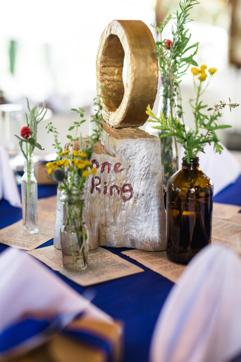 This Virginia backyard wedding combined Scottish heritage with Lord of the Rings