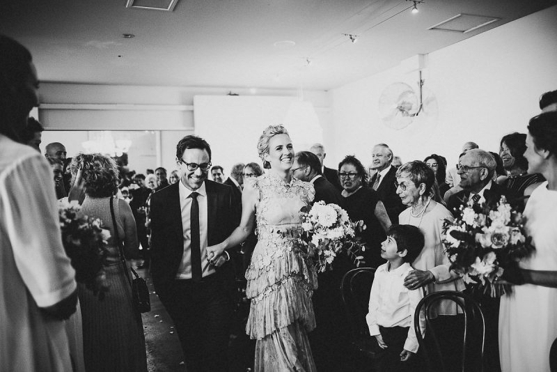 Modern meets timeless at this lace & romance Melbourne wedding