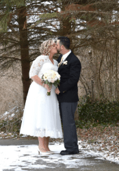 abaowedding plus size tea length wedding dress on offbeat bride