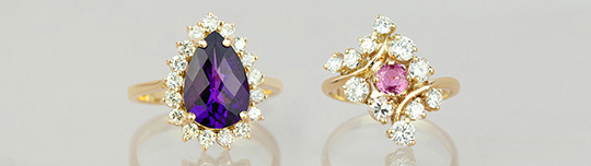 Vintage ring sapphire
