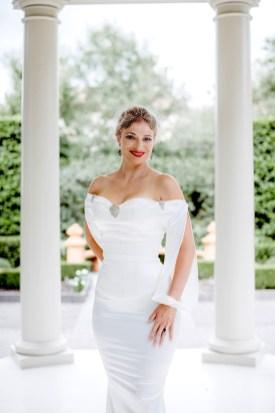 Dark Garden AustynMarie Captures NOLA bridal Rosalind gown