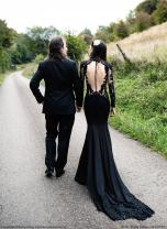 PolinaIvanova gothc wedding dress on offbeat bride