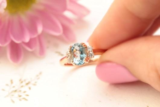 vinnyandcharles aquamarine and diamond engagement ring