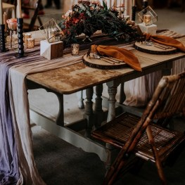 rustic elegant reception barn