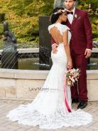 lacemerry open back dress on offbeat bride