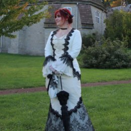 black and white wedding dress by dressartmystery