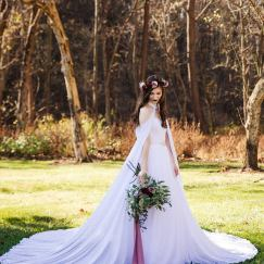 firefly path bridal cape on offbeat bride