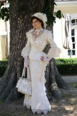 victorian lace wedding dress by DressArtMystery on Offbeat Bride