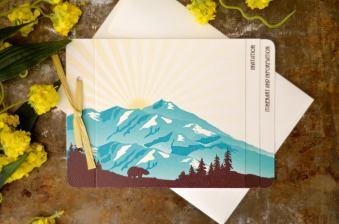 Denali Alaska Wedding Invitations by NestingProjectPaper