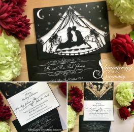 Laser cut wedding invitations by Shimmering Ceremony on Offbeat Bride (6)