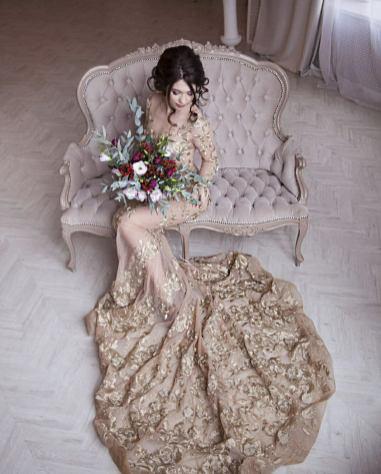 Trumpet dress by Julia Miren Dresses on Offbeat Bride