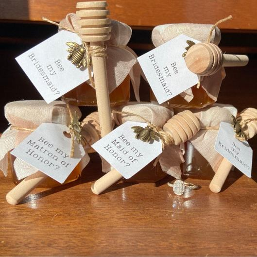 bee my maid of honor honey gifts on offbeat bride