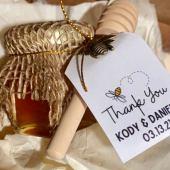 wedding honey favors on offbeat bride