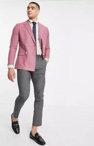 top man pink jacket on offbeat bride