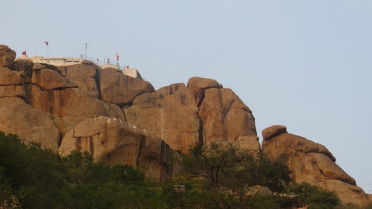 Anjaneya Temple on top of the hill, Hampi, Hanuman Temple, Hampi, Hampi Temples on Hippie Side