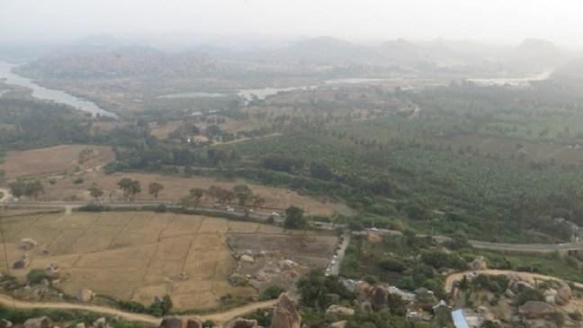 Beautiful views from Anjaneya Temple, Hampi; Hanuman Temple, Hampi; Hampi Temples on hippie side