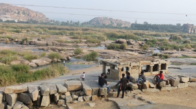 Tungabhadara River Bank on the side of Chintamani Temple, Hampi