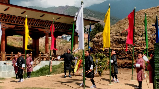 Archery tournament in Thimphu, Bhutan, Things to do in Bhutan, Bhutan Tourism