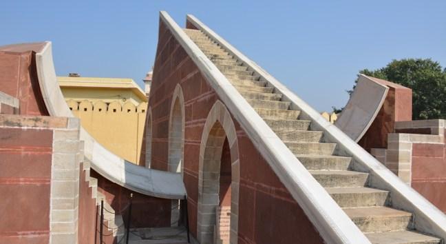 Jantar Mantar Jaipur - Oldest Observatory in India, built by Maharaja Jai Singh: Rajasthan Tourism, Sundial