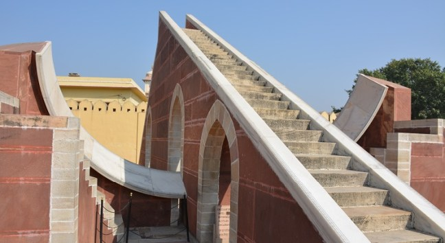 Jantar Mantar Jaipur - Oldest Observatory in India, built by Maharaja Jai Singh: Rajasthan Tourism, Sundial