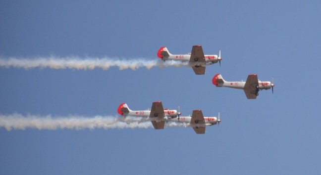 Yakovlevs, UK's premier acrobatics team at Aero India Show, Bangalore Air Show 2017, Aero Show 2017, Indian Air show