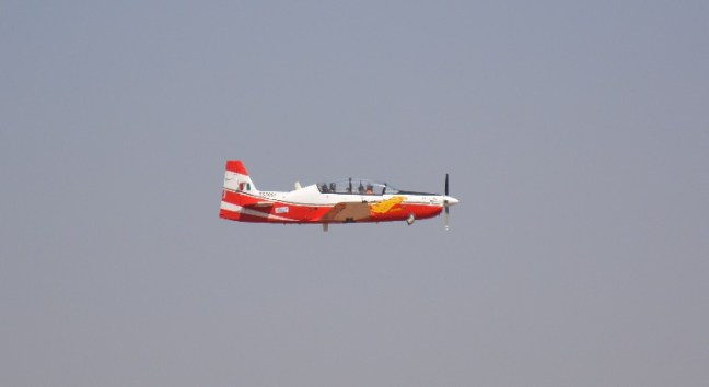 HAL's Trainer Plane HTD - 40 at Aero India Show, Bangalore Air Show 2017, Aero Show 2017, Indian Air show
