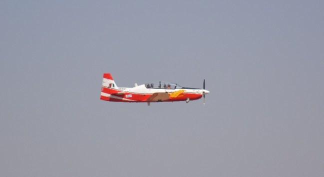HAL's Trainer Plane HTD - 40 at Aero India Show, Bangalore Air Show 2017, Aero Show 2017, Indian Air show