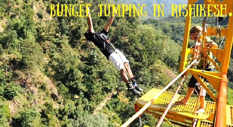 Bungee Jumping at Jumpin Heights, Rishikesh Uttarakhand. Extreme Adventure- Safe Bungee/Bungi Jump. Image