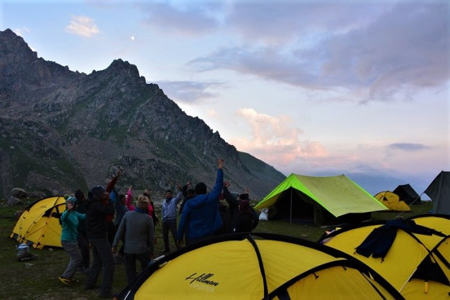 Gadsar Camp-site to Satsar Lakes - Kashmir Great Lakes Trek is one of the most beautiful treks in India -Indiahikes