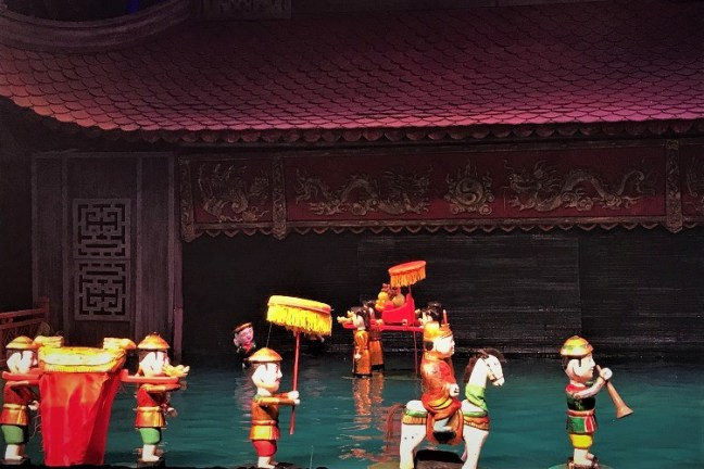 Water Puppets' performance at Municipal Water Puppet Theater Hanoi (Also known as Thang Long Water Puppet Theater Hanoi)