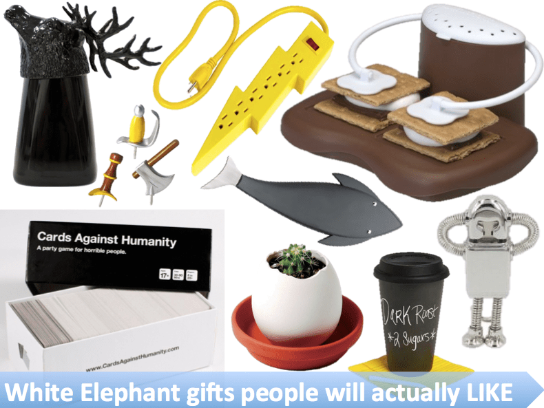 white elephant gifts people will actually like