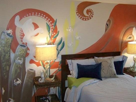 giant squid mural
