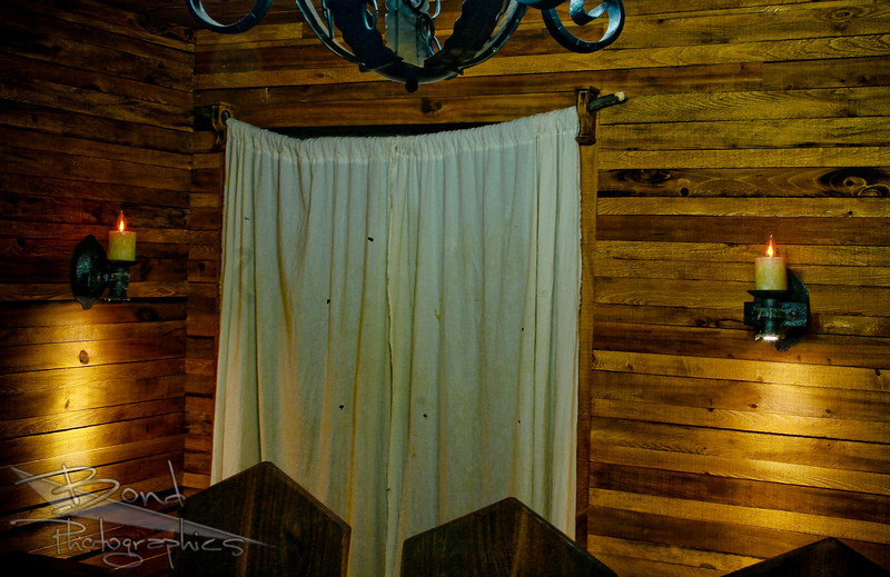 Medieval tavern-themed gaming room