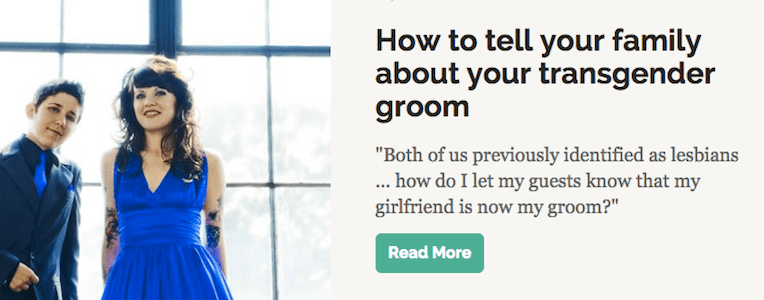 How to tell your family about your transgender groom