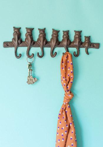 Seven cat key hook, $20.